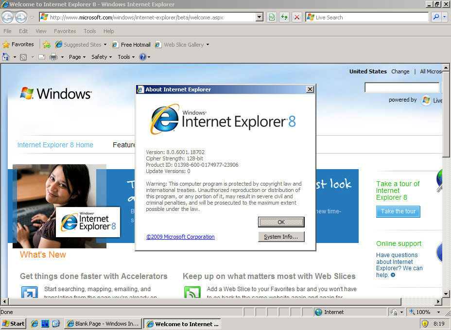 Download Internet Explorer 80 XP - FileHippocom