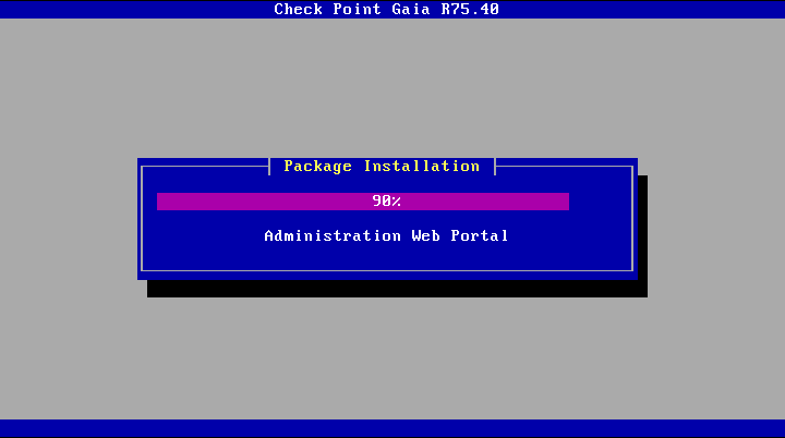 GAiA Check Point Install